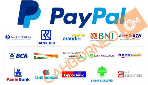 Daftar kode bank untuk Paypal