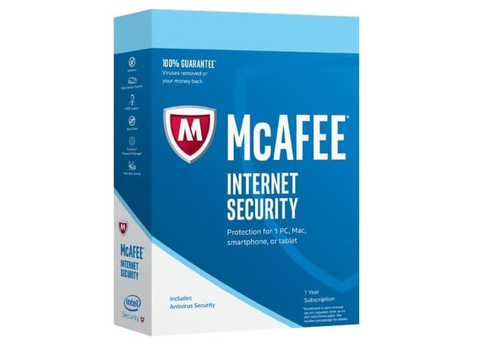 Key McAfee Internet Security 2020 free