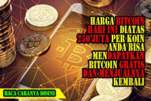 harga bitcoin hari ini terus meningkat