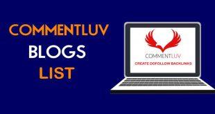 Daftar blog pengguna plugin CommentLuv