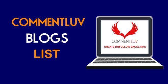 Daftar blog pengguna plugin CommentLuv 2020